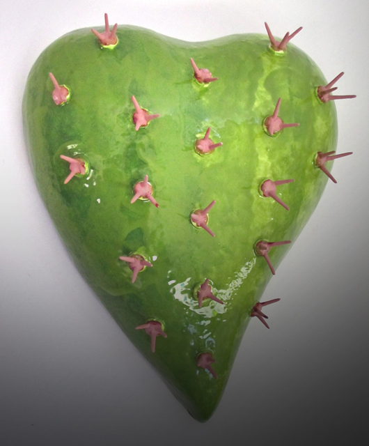 Prickly Pear Large Heart Wall Hanging