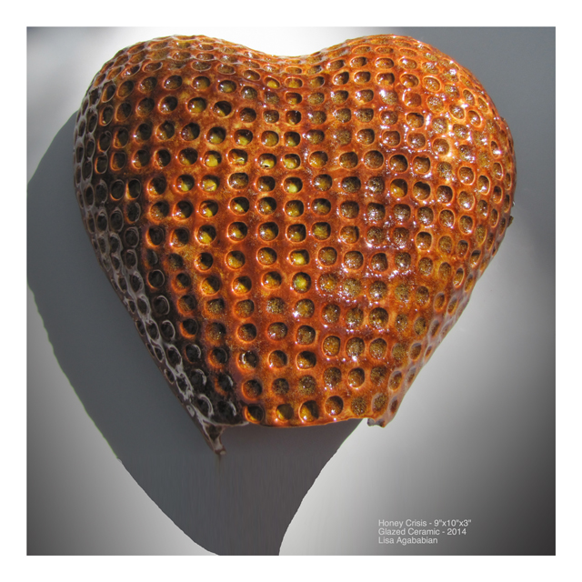 2014 Honey Crisis Large Heart Wall Sculpture
