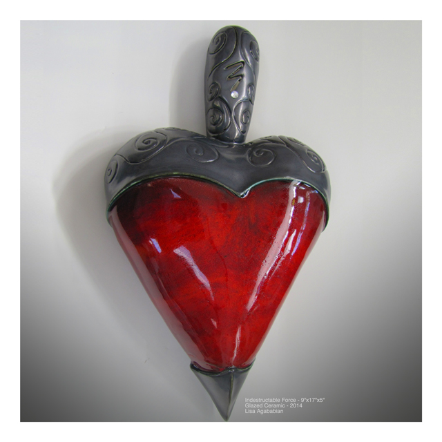 2014 Indestructible Force Large Heart Wall Hanging