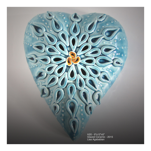 H2O Large Wall Heart Hanging