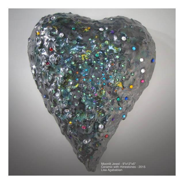 Moonlit Jewels Large Heart Wall Hanging