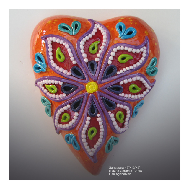 Sahasrara Large Heart Wall Hanging