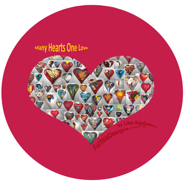2016 Many Hearts One Love Sticker