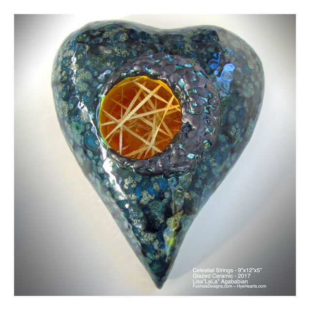 2017 Celestial Light Large Heart Wall Sculpture