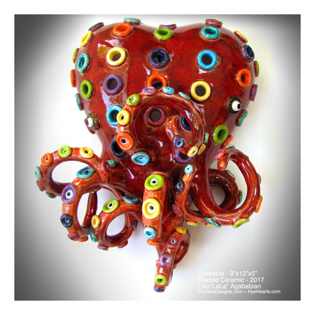 2017 Loveable Large Heart Wall Sculpture