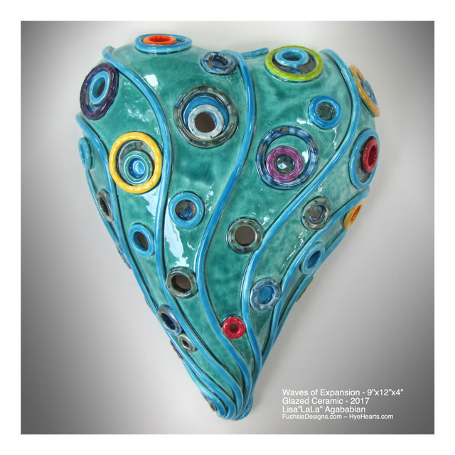 2017 Waves Of Expansion Large Heart Wall Hanging