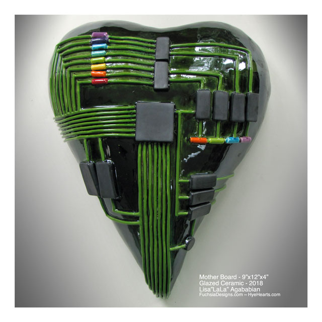 2018 MotherBoard Ceramic Heart Sculpture