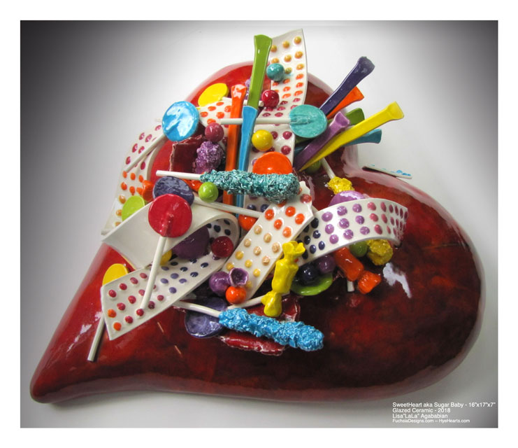 2018 SweetHeart aka Sugar Baby xxx-Large Ceramic Heart Sculpture