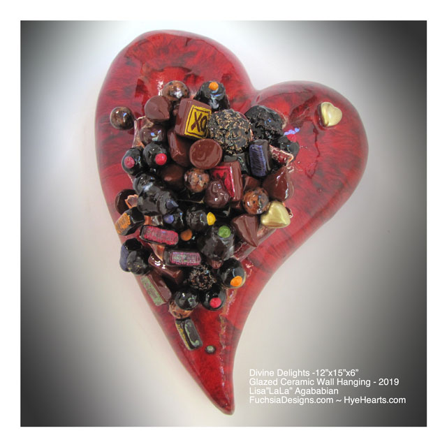 2019 Divine Delights Ceramic Heart Wall Sculpture
