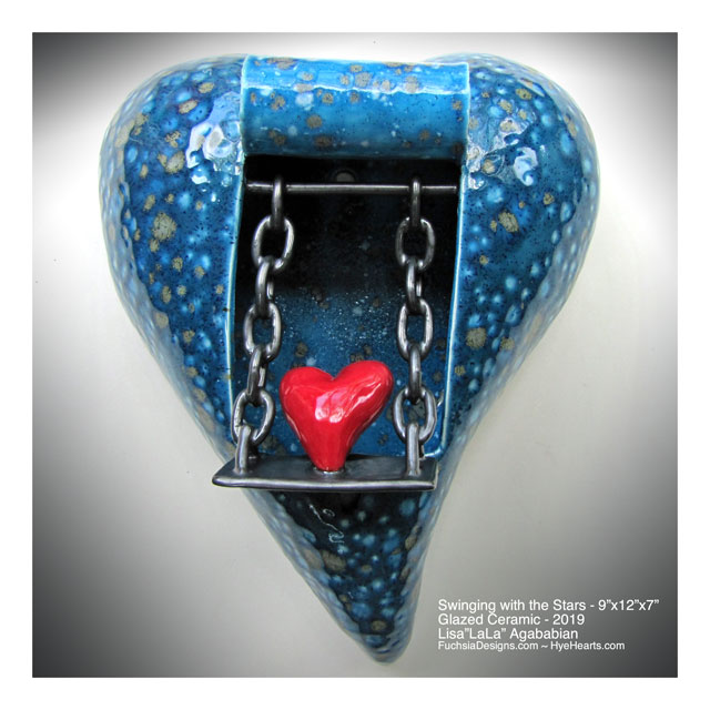 2019 Swinging With The Stars Heart Wall Sculpture