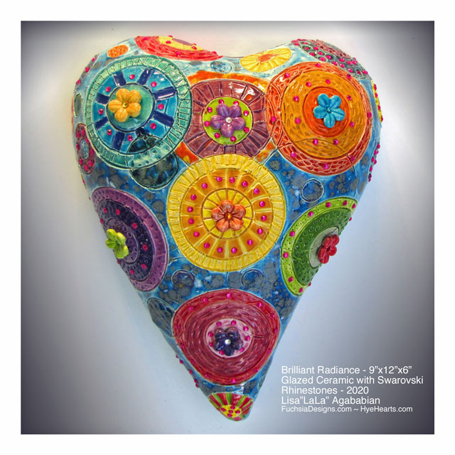 2020 Brilliant Radiance Ceramic Heart Wall Sculpture