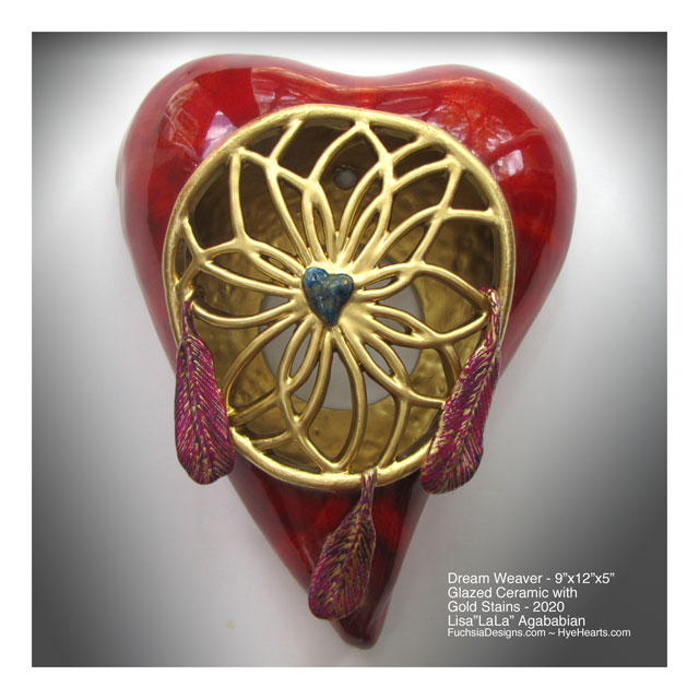 2020 Dream Weaver Large Ceramic Heart Wall Sculpture